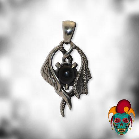 Black Mystery Silver Pendant