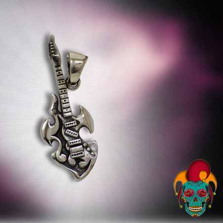 Electric Guitar Silver Pendant
