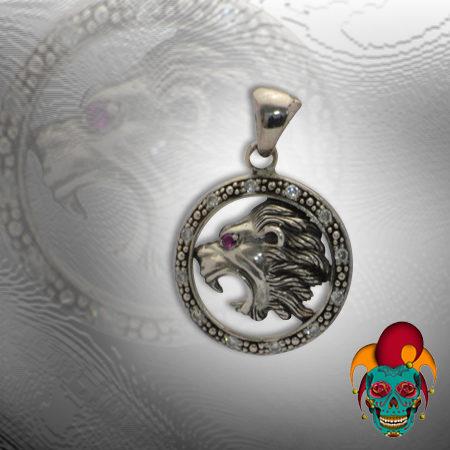 Roaring Lion Silver Pendant
