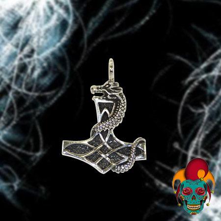 Dragon Profile Silver Pendant