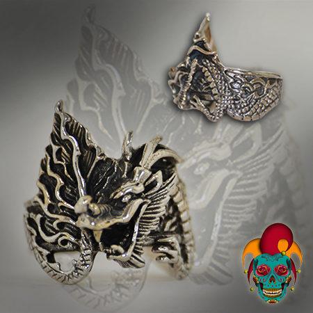 Furious Dragon Silver Ring
