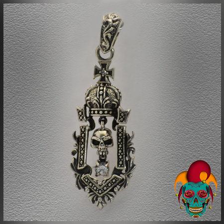 Holy Skull Silver Pendant