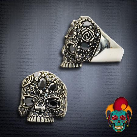 Bling Silver Skull Ring