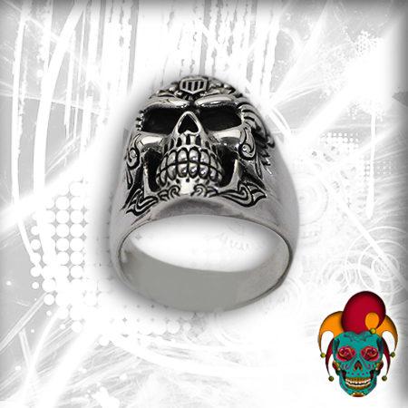 Simple Skull Silver Ring