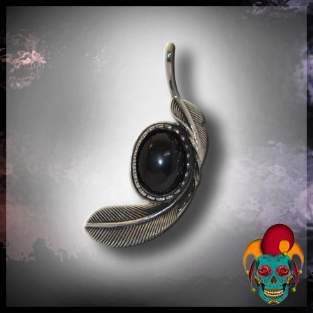 Black Feather Silver Pendant