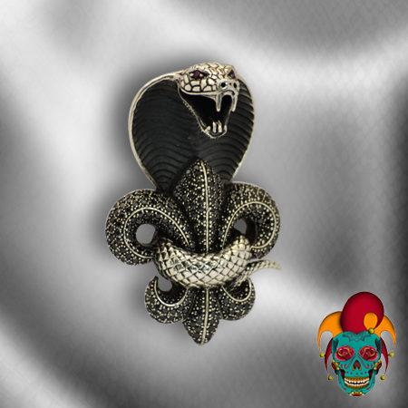Furious Cobra Silver Pendant