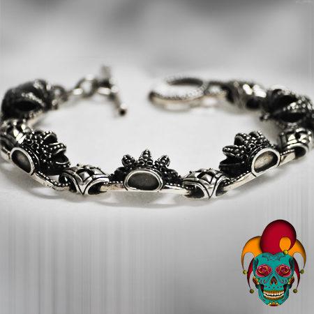 Crown Silver Bracelet