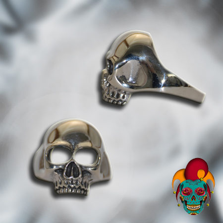 Empty Eyed Silver Skull Ring