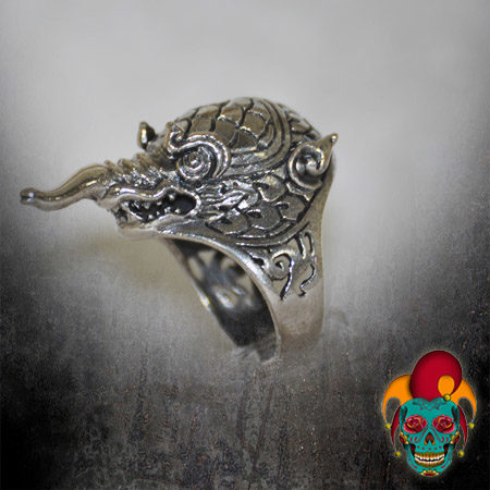 Long Nosed Animal Silver Ring