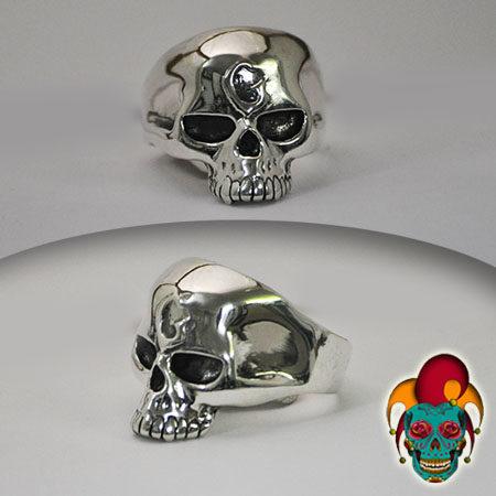 Shining Skull Silver Ring