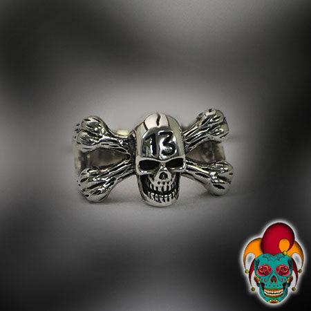 Skull and Bones Silver Ring