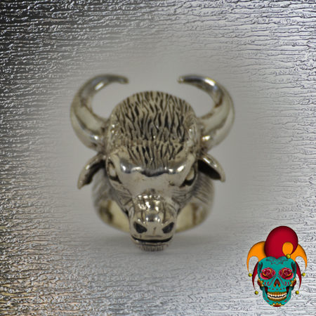 Bull with Horns Silver Ring