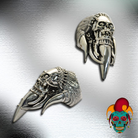 Indian Chief Silver Ring