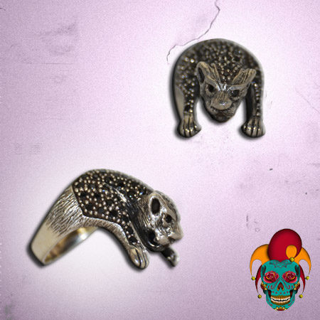 Leopard Body Silver Ring
