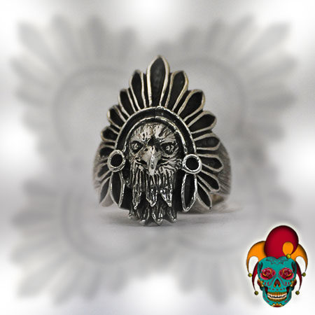 Indian Eagle Silver Ring