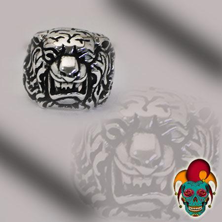 Bull Dog Silver Ring