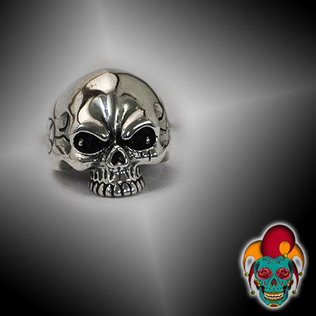 Evil Skull Silver Ring