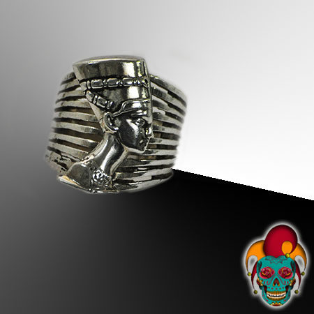 Egyptian Pharaoh Silver Ring