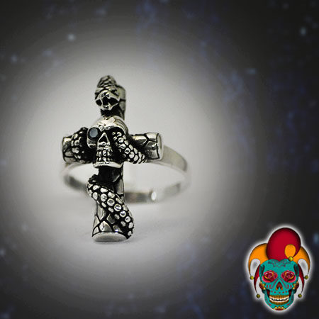 Stylish Cross Silver Ring