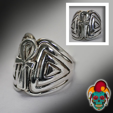 The Nile Key Silver Ring