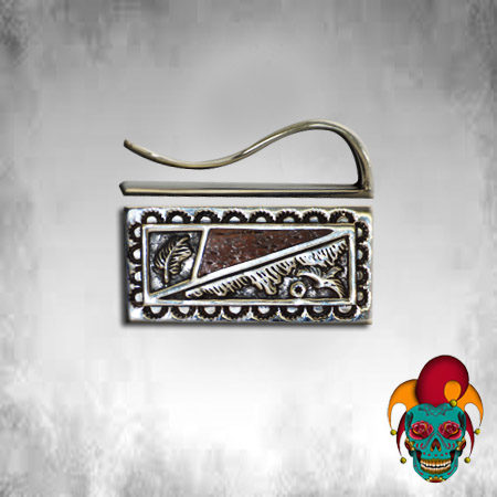 Brown and Silver Money Clip