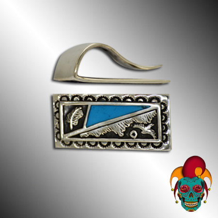Blue and Silver Money Clip
