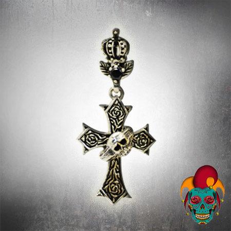 Skull Cross Silver Pendant