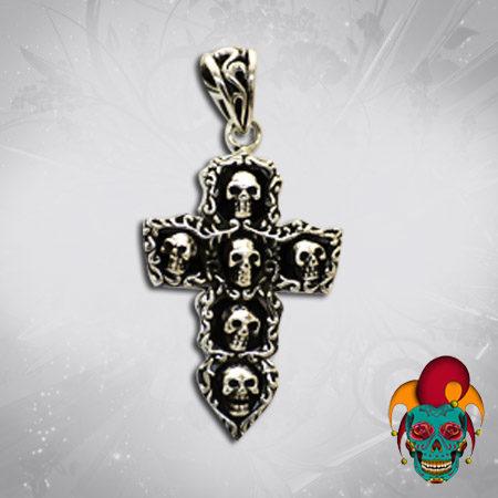 Black Cross Silver Pendant