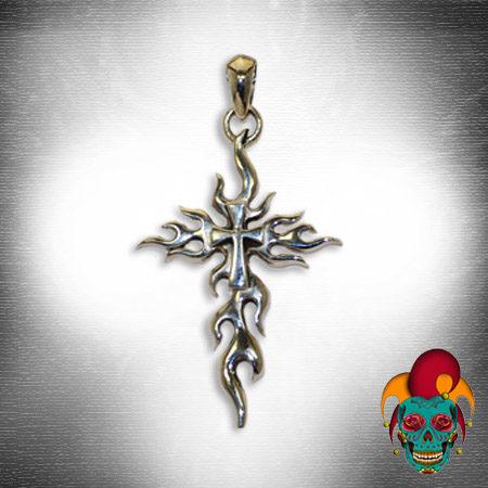 Artistic Cross Silver Pendant