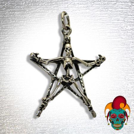 Pentagon Skull Silver Pendant